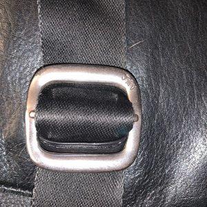 John Varvatos Bags - John Varvatos Black Leather Messenger Bag